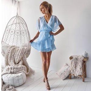 BTBC Kiera Dress Baby Blue